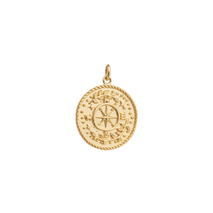 Gold Plated Treasure Coin Charm