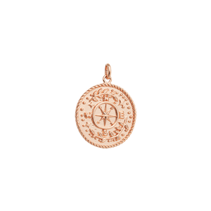 Rose Gold Plated Treasure Coin Charm