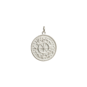 Silver Treasure Coin Charm