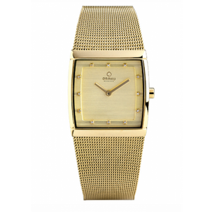 Gold Tone Square Dial Lund - Lille Gold Watch