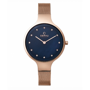 Rose Gold Tone with Blue Mother of Pearl Dial - Sky Azure Watch