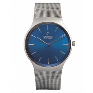 Blue Dial Mens - Rolig Cyan Watch