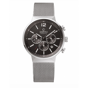 Mesh with Black Dial Chronograph Mens - Storm Onyx Watch