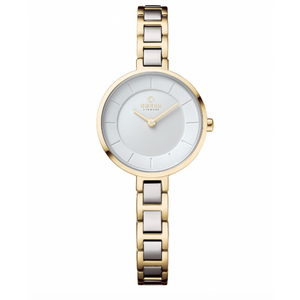 Gold Tone with White Dial - Vind Cider Watch