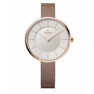 Rose Gold Tone Mesh with White Dial - Sand Rose Watch