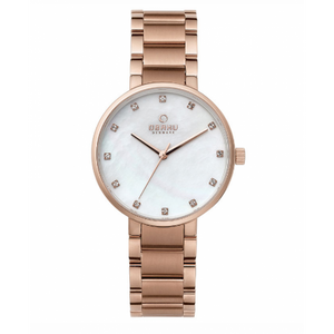 Rose Gold Tone with Mother of Pearl Dial - Glad Fushia Watch