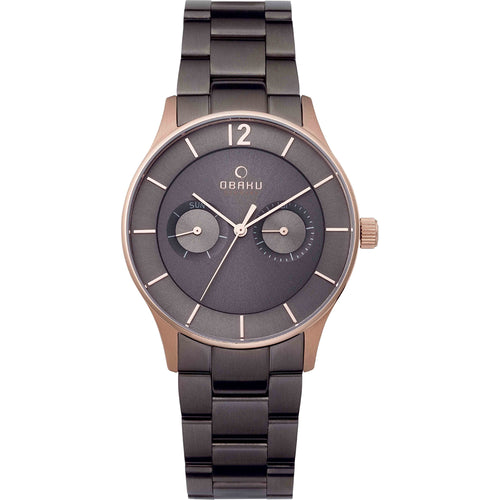 Rose Gold Tone with Grey Dial Mens - Luft Crepe Watch