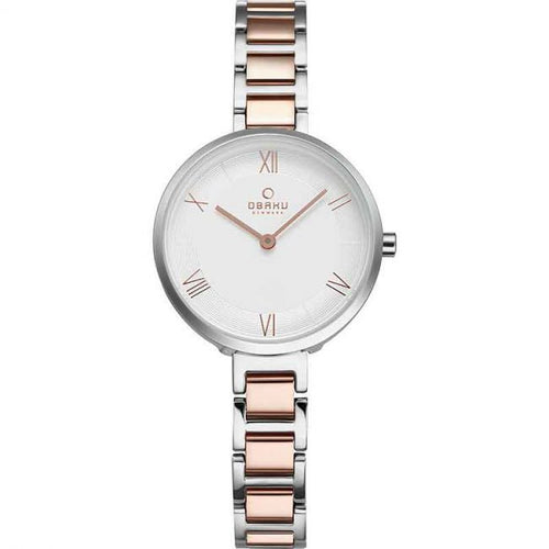 Rose Gold Tone with White Dial - Vand Peach Watch