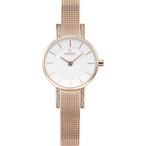 Gold Mesh White Dial - Lykke Rose Watch
