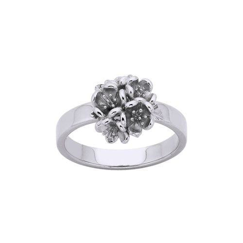 Karen Walker Silver Flower Ball Ring