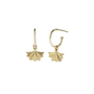 Gold Plate Vita Signature Hoop - Pair