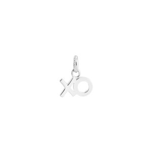 Silver XO Outline Charm