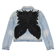 Load image into Gallery viewer, Rekha Embellished Denim Jacket