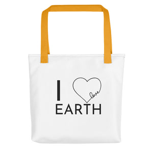 I Love Earth Tote Bag