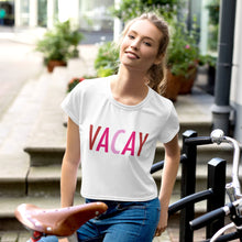 Load image into Gallery viewer, Vacay Crop Tee