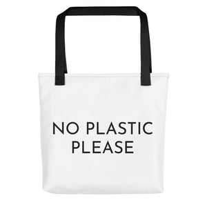 No Plastic Please Tote Bag