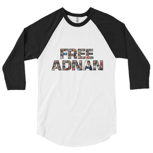 Free Adnan Supporters 3/4 Sleeve Raglan Shirt