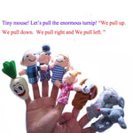 8pc Finger Puppets baby toy Cartoon Animal family Puppet Toys for children kidsfinger puppet baby girls boys gift