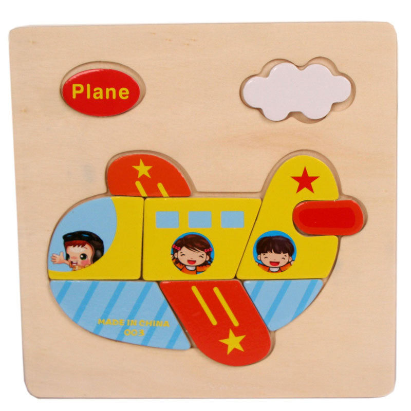 1-3 year baby Plane Pattern Wooden Puzzle Educational Puzzles for children Baby Kids Gift Wooden Puzzles