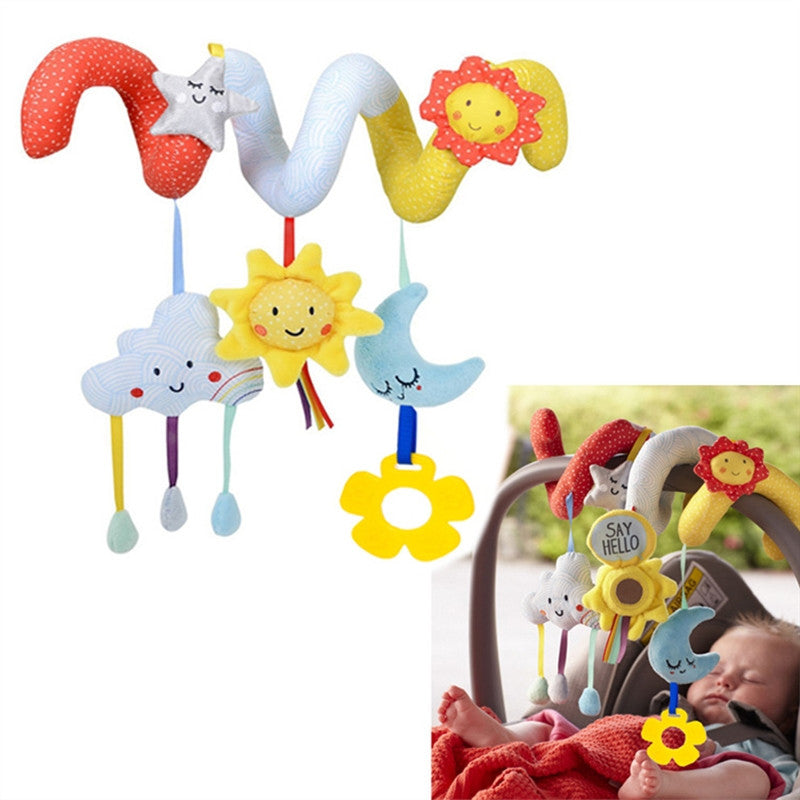Baby Infant Crib Toy Wrap Around Crib Rail Toy Stroller Toy Cute Baby Educational Toys
