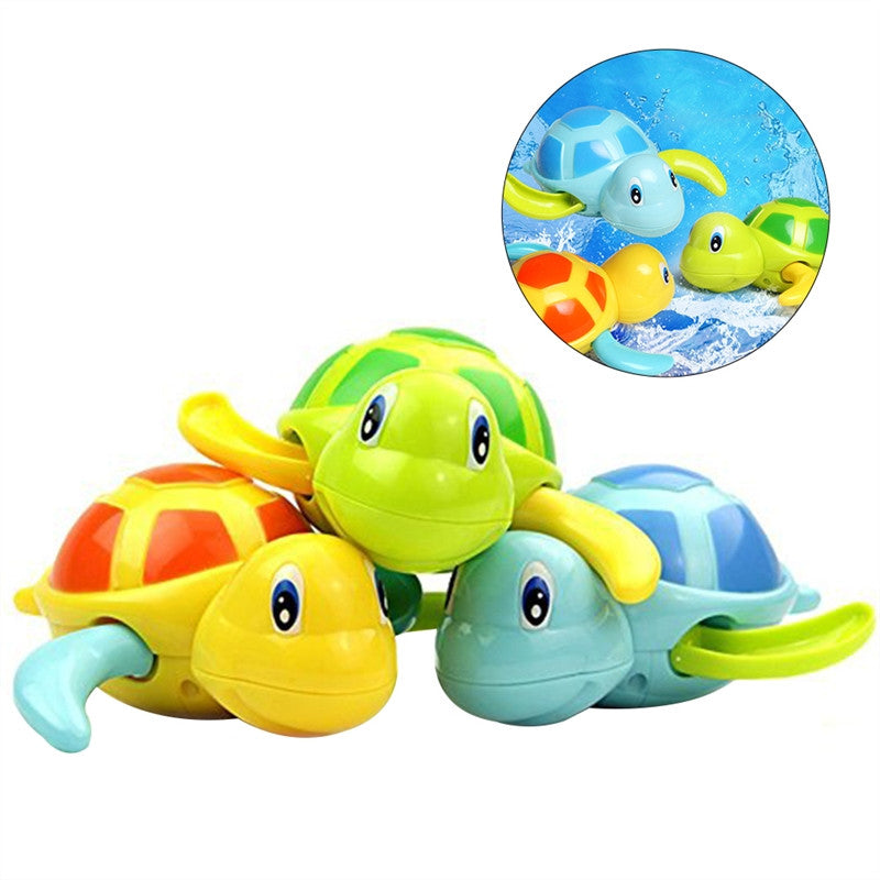 3 Pcs Baby Bath Time Fun Turtle Plastic Bathtub Toys