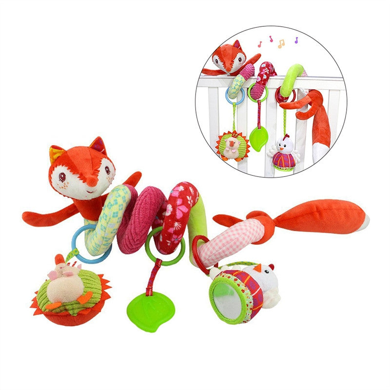 Fox Baby Infant Crib Toy Wrap Around Crib Rail Toy Stroller Toy Cute Baby Educational Plush Toys