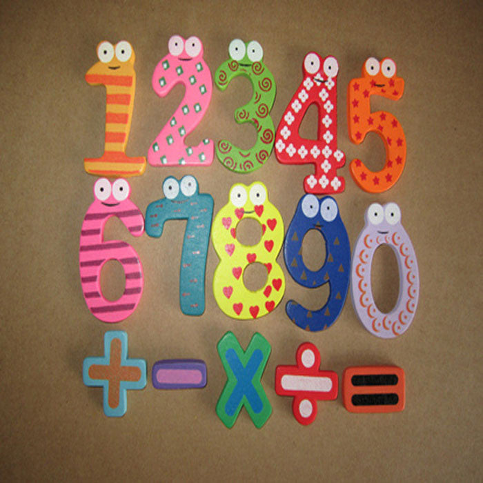 Magnetic Wooden Numbers Math Set Digital Baby Educational Toy