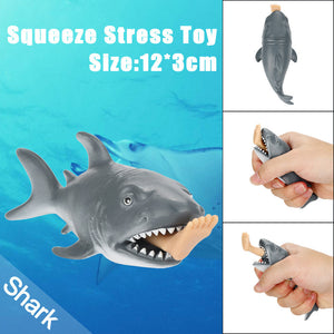 12cm Funny Toy Shark Squeeze Stress Ball Alternative Humorous Light Hearted New