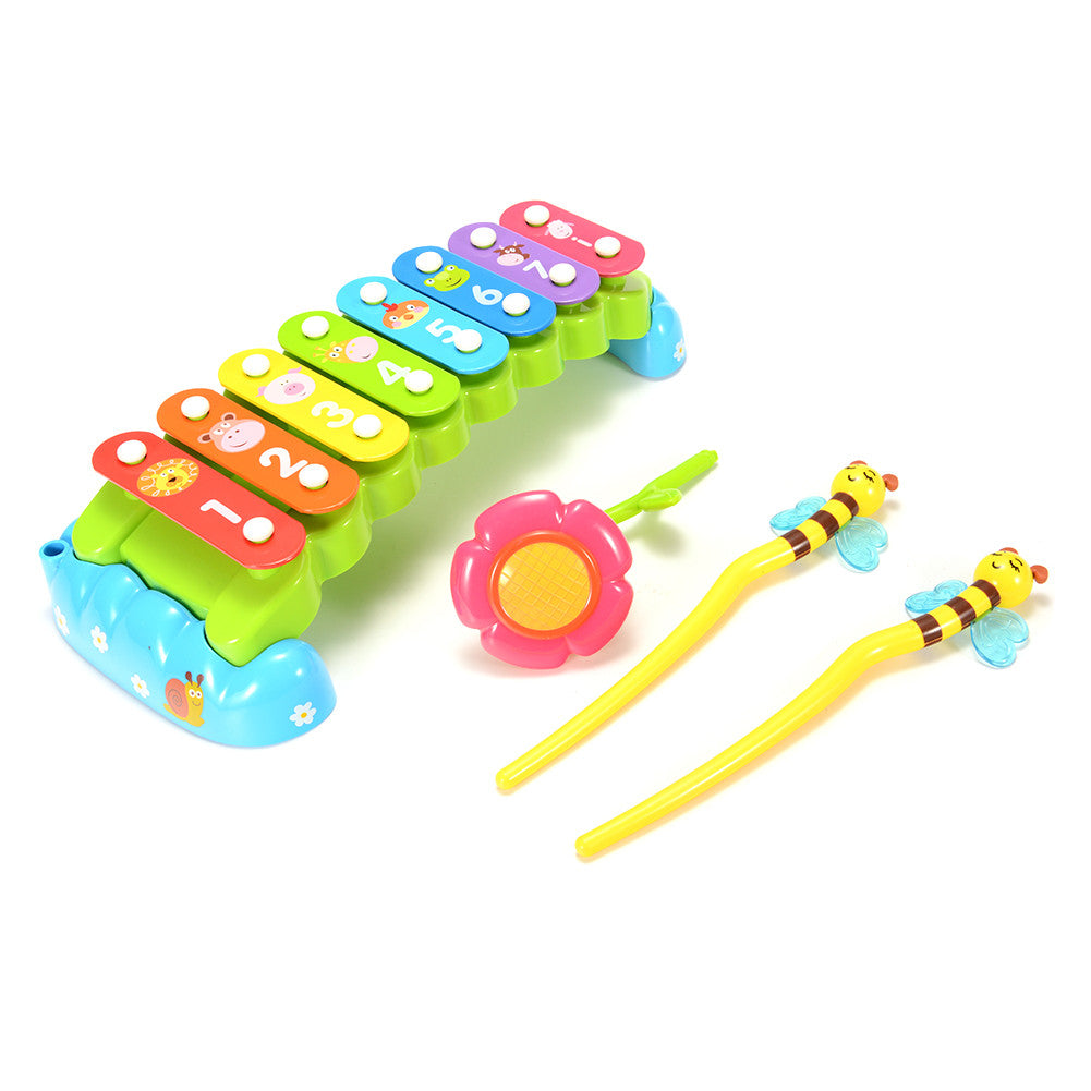 Rainbow 8-Note Hand Knock Xylophone Toy Baby Musical Toy