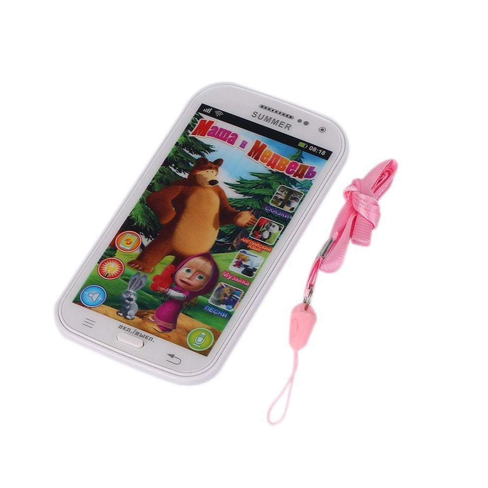 Plastic Baby Phone Toy Simulator Music Phone Touch Screen Children Toy Electronic Learnin Russian Language
