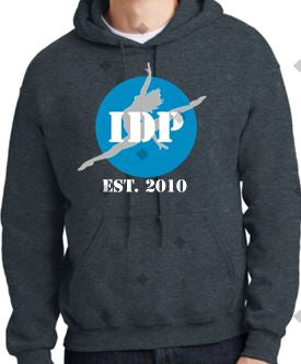 IDP EST 2010 Hoodie Dark Heather with name on lower Back - I Dance Project