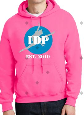 IDP EST 2010 Hoodie Bright Pink with name on lower Back - I Dance Project