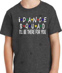 I dance Squad Dark Heather WITH name on back - I Dance Project