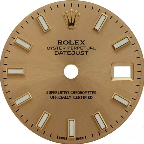 Original Rolex Champagne Luminous Dial Datejust 26mm 69173 179173 69178 Watch - LSM WATCH