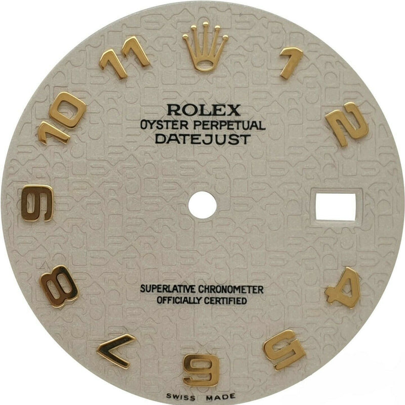 Original Rolex Datejust Two-Tone 36mm Jubilee Cream Arabic Hour Marker Dial - LSM WATCH