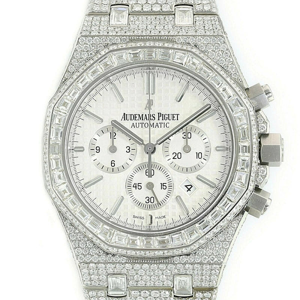 Pre-Owned Audemars Piguet Royal Oak Chronograph - Full Diamond Watch - LSM WATCH