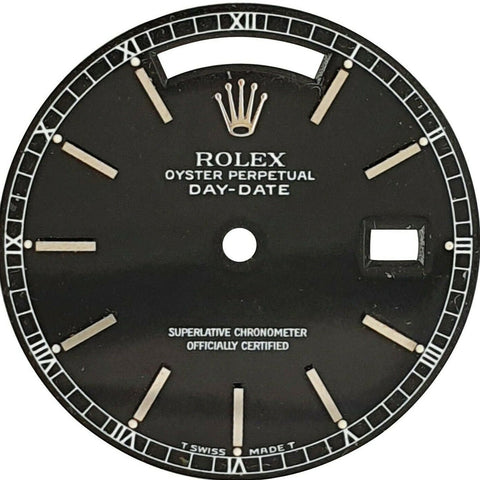Original Rolex Black Index Dial for Day-Date 36mm White Gold Watch - LSM WATCH