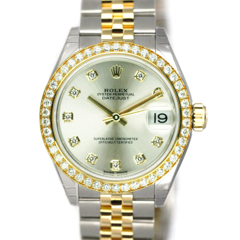 Rolex Watch Lady Datejust 31mm 178383 Steel & Gold Silver Diamond Dial & Bezel - LSM WATCH