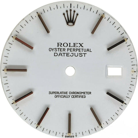 Original Rolex White Stick Dial for Datejust 36mm Stainless Steel QS 16014 16234 - LSM WATCH