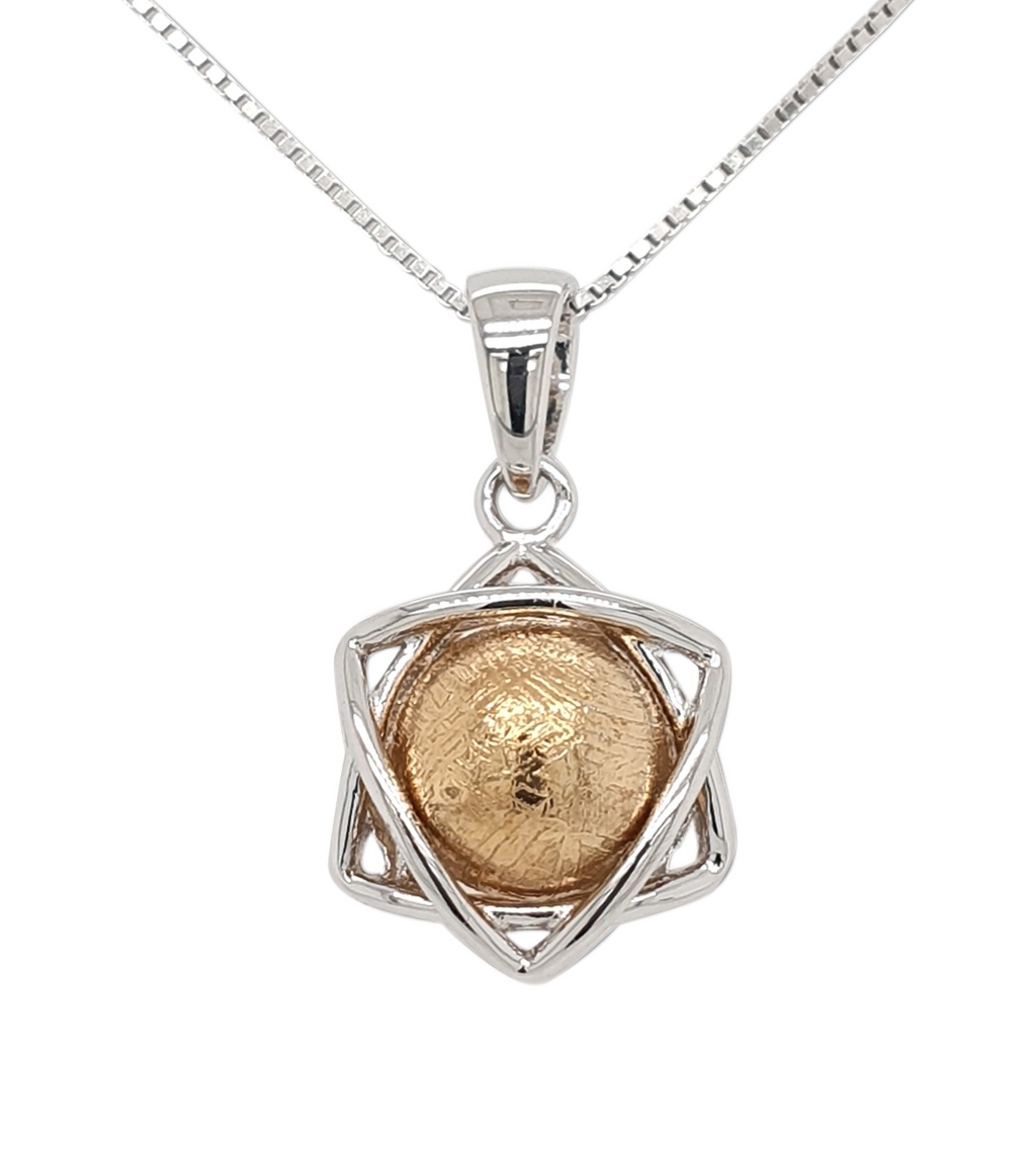 Six Point Meteorite Pendant Necklace - LSM WATCH
