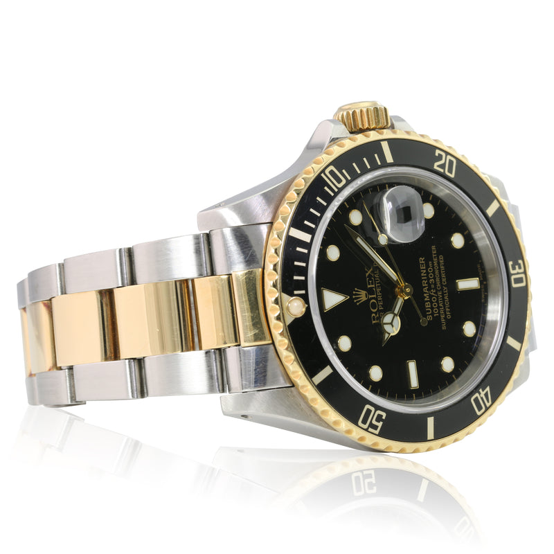 Pre-owned Rolex Submariner Black 16613