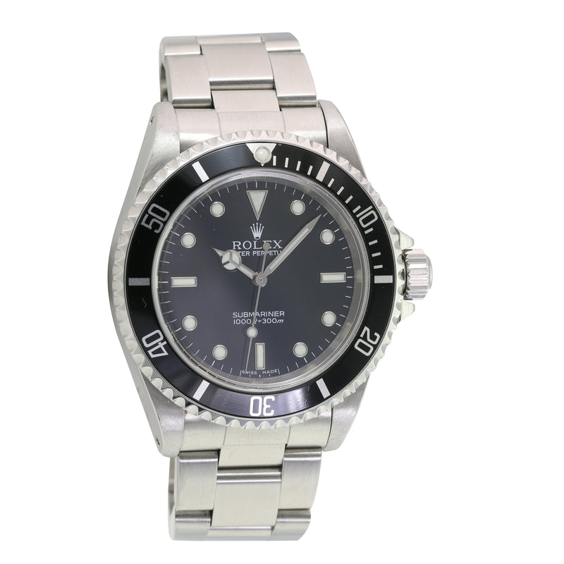 "Pre-owned Rolex Submariner ""NO DATE"" 14060"