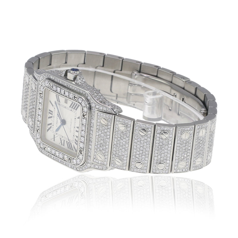 Fully Loaded Cartier Santos Watch
