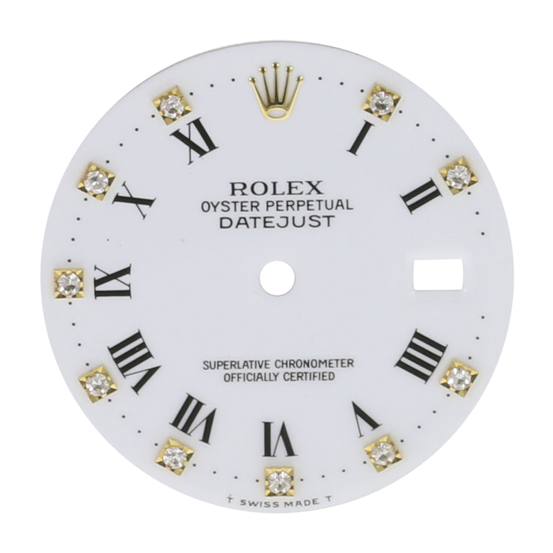 Original Rolex White Roman & Diamond Dial 36mm