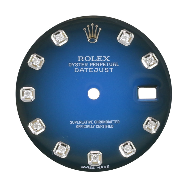 Original Rolex Blue Vignette Diamond Dial 36mm