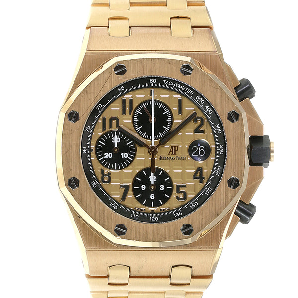 "Pre-owned Audemars Piguet 18K Rose Gold ""Brick"""