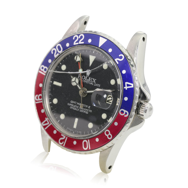 Rolex GMT-Master Steel Matte Black Pointe Guard Dial Pepsi Insert - LSM WATCH