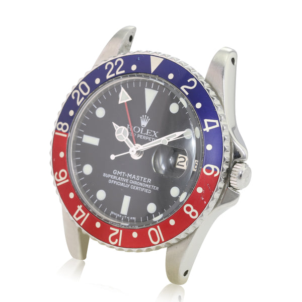 Rolex GMT-Master Matte Black Point Guard Clean Dial Pepsi Bezel Watch - LSM WATCH