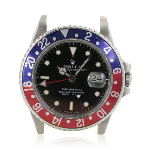 Rolex GMT-Master II 16760 Steel Black Luminous Dial Pepsi Insert - LSM WATCH