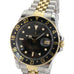 Rolex GMT-Master 16753 Two-Tone Black Luminous Dial Black Insert Jubilee Band - LSM WATCH
